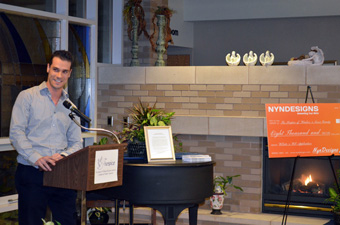NYN' President, Robert Novena, discussing NYN' involvement in The Hospice web project