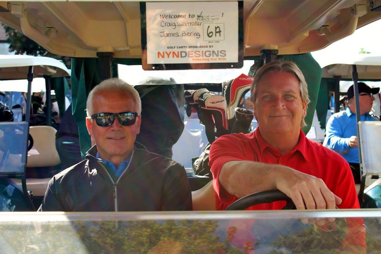 Golf Cart at the 12th Annual Royal LePage Binder Golf Tournament