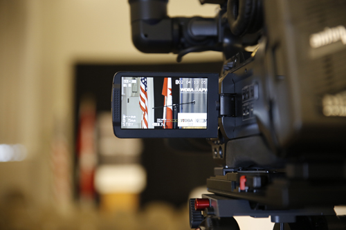 Camera filming at WDBA's Annual Public Meeting
